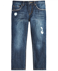 Epic Threads Little Boys Rip-and-Repair Cotton Denim Jeans, Created for Macy's