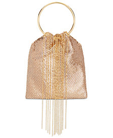 I.N.C. Alizaa Fringe Ring Clutch, Created for Macy's