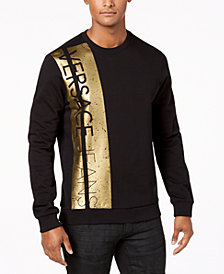Versace Men's Metallic Logo-Print Sweater