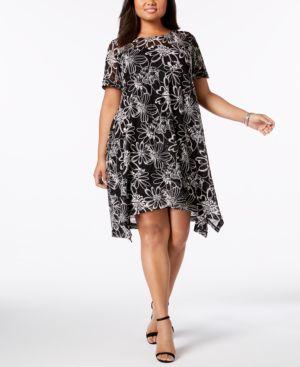 Robbie Bee Plus Size Lace Shift Dress 5940002