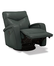 Erith Leather Power Swivel Glider Recliner