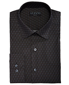 AlfaTech by Alfani Men's Cube Dot Print Classic/Regular Fit Dress Shirt, Created for Macy's
