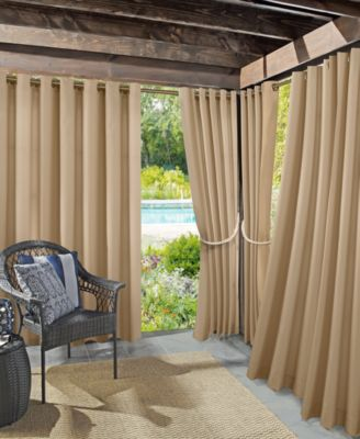"Rutherford Solid Woven Indoor/Outdoor UV Protectant  52"" x 108"" Curtain Panel"