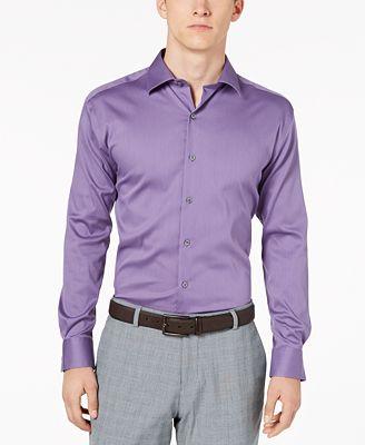 Alfani Alfatech By Men S Athletic Fit Bedford Cord Dress Shirt
