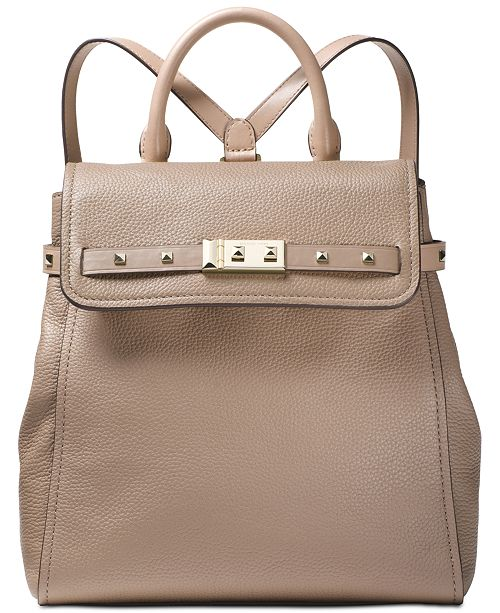 e58065c310c9 Michael Kors Addison Pebble Leather Backpack   Reviews - Handbags ...