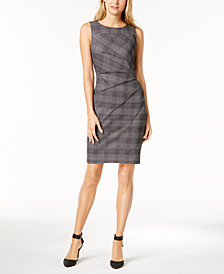 Calvin Klein Houndstooth Starburst Sheath Dress, Regular & Petite