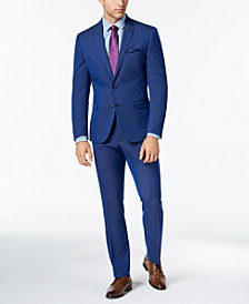 Nick Graham Men's Slim-Fit Bright Blue Birdseye Suit