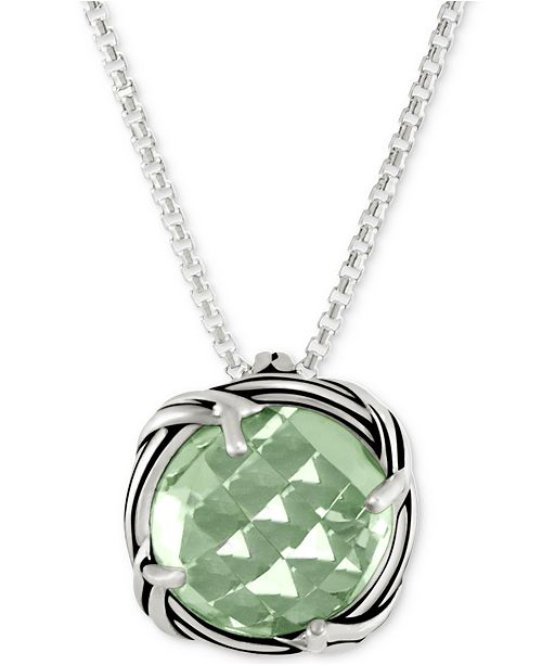 """Peter Thomas Roth Prasiolite 20"""" Pendant Necklace (4 ct. t.w.) in Sterling Silver"""
