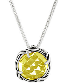 Peter Thomas Roth Lemon Citrine Adjustable Pendant Necklace (4 ct. t.w.) in Sterling Silver