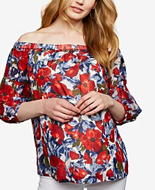 Maternity Off-The-Shoulder Top