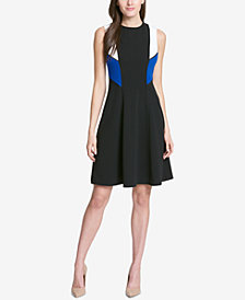 Tommy Hilfiger Colorblocked Scuba Crepe Dress