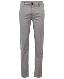 BOSS Men's Slim Fit Micro-Pattern Chino Pants
