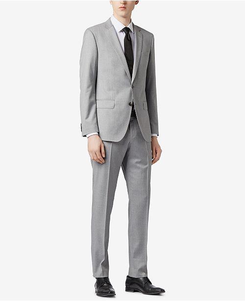 56f45f9b4 ... Hugo Boss BOSS Men's Slim-Fit Natural Stretch Virgin Wool Suit ...