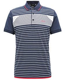 BOSS Men's Regular/Classic-Fit Striped Cotton Polo
