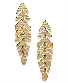 kate spade new york Gold-Tone Leaf Linear Drop Earrings
