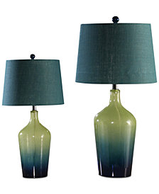 Abbyson Living Set of 2 Ombré Table Lamps