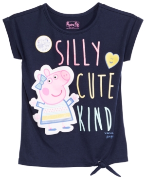 Peppea Pig Little Girls TieFront GraphicPrint TShirt