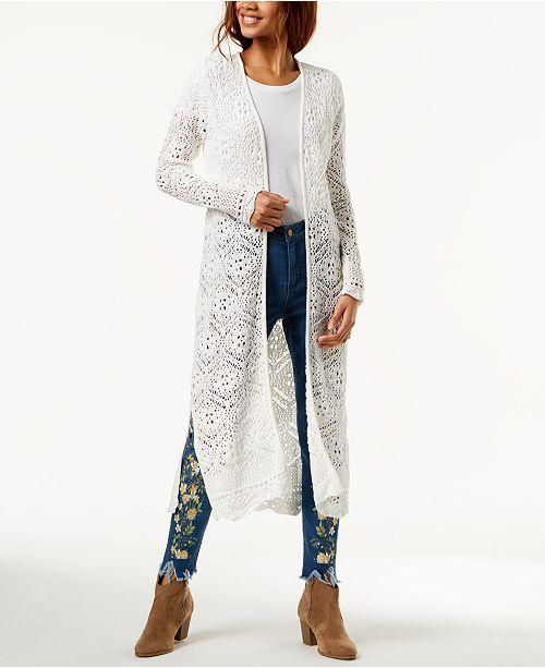 d9ac8987557cd ... One Hart Juniors  Crochet Duster Cardigan