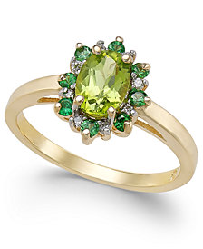 Multi-Gemstone (1-1/4 ct. t.w.) & Diamond Accent Ring in 14k Gold