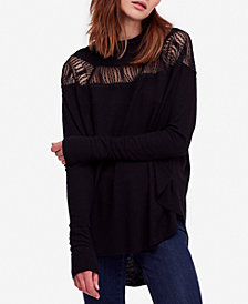 Free People Spring Valley Lace-Trim Top