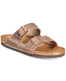 Birkenstock Men's Arizona Oiled Leather Buckle Sandals