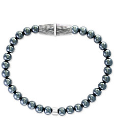 EFFY® Men's Hematite Bead Bracelet in Sterling Silver