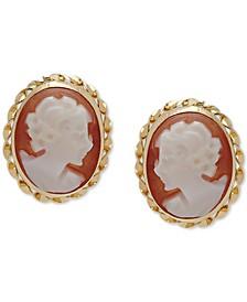 Cameo Stud Earrings in 10k Gold