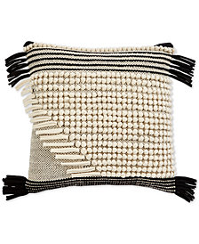 "Oxford Collection Brooklyn Hand-Woven 18"" Square Decorative Pillow, Created for Macy's"