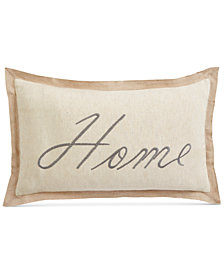 "Oxford Collection Home Embroidered 14"" x 24"" Decorative Pillow, Created for Macy's"