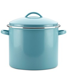 Enamel-on-Steel 16-Qt. Stockpot & Lid