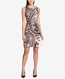 Tommy Hilfiger Sleeveless Paisley-Print Dress