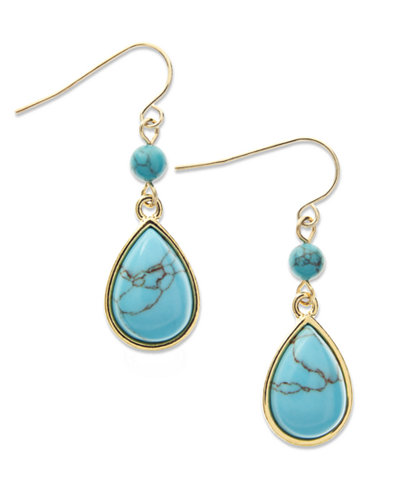 Lauren Ralph Lauren Turquoise Teardrop Earrings