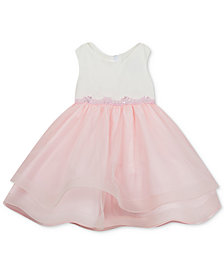 Rare Editions Baby Girls Tulle-Skirt Dress