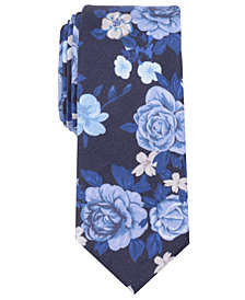 Bar III Men's Lake Floral Tie, Created for Macy's
