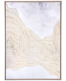 Zuo Gentle White & Gold Canvas Print