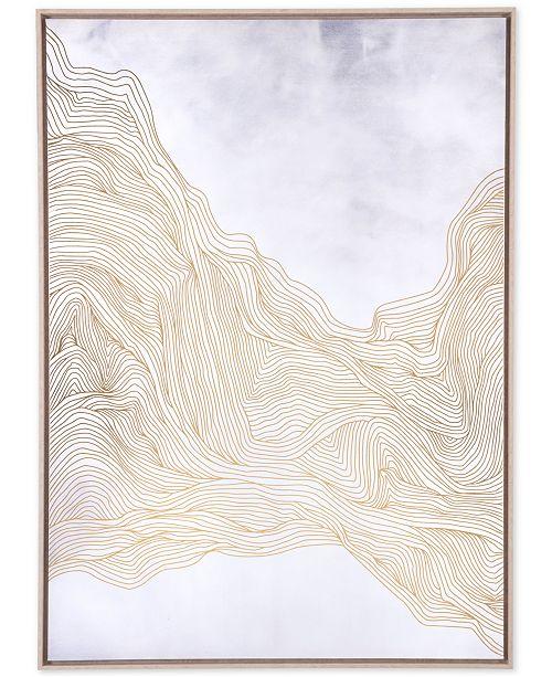 Zuo Gentle White Gold Canvas Print Wall Art Macys