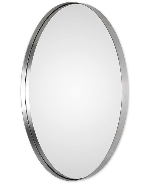Uttermost Pursley Brushed Nickel Oval Mirror Mirrors Macys