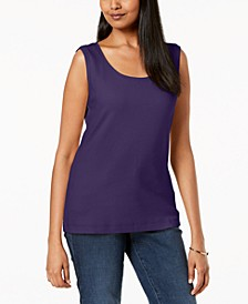 Scoop-Neck Cotton Tank Top, Created for Macy's