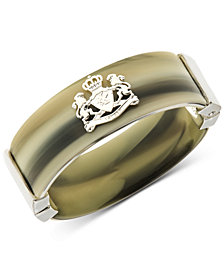 Lauren Ralph Lauren Gold-Tone Horn-Look Crest Bangle Bracelet