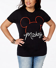 Disney Plus Size Cotton Mickey Mouse T-Shirt