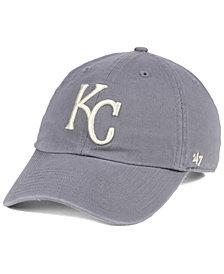 '47 Brand Kansas City Royals Dark Gray CLEAN UP Cap