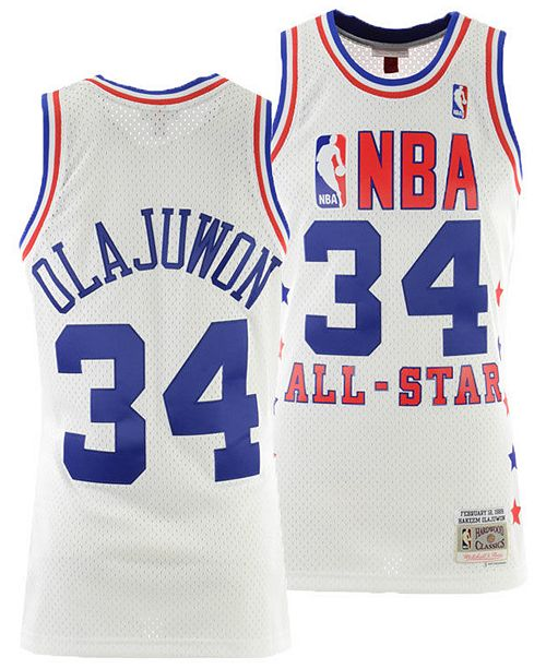 huge discount 41aa2 c966e Men's Hakeem Olajuwon NBA All Star 1989 Swingman Jersey