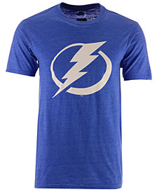 Majestic Men's Tampa Bay Lightning Tri Blend Team Logo T-Shirt