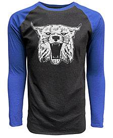 J America Men's Kentucky Wildcats Heritage Tri-Blend Long Sleeve Raglan T-Shirt