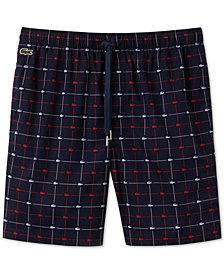 Lacoste Men's Signature-Print Cotton Pajama Shorts
