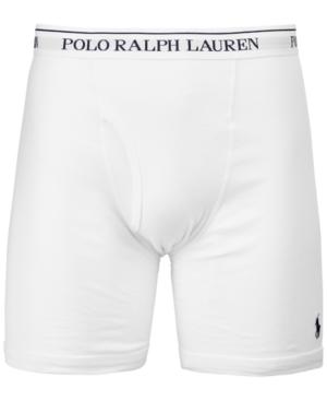 Polo Ralph Lauren Men's 3-pk. Classic Cotton Boxer Briefs In White