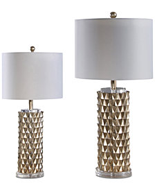 Abbyson Living Set of 2 Esplanade Gold Table Lamps