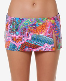 Bleu by Rod Beattie Printed Swim Skirt