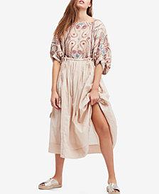 Free People Mesa Embroidered Midi Dress