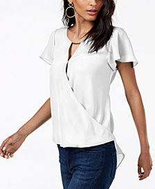 I.N.C. High-Low Hardware-Detail Top, Created for Macy's